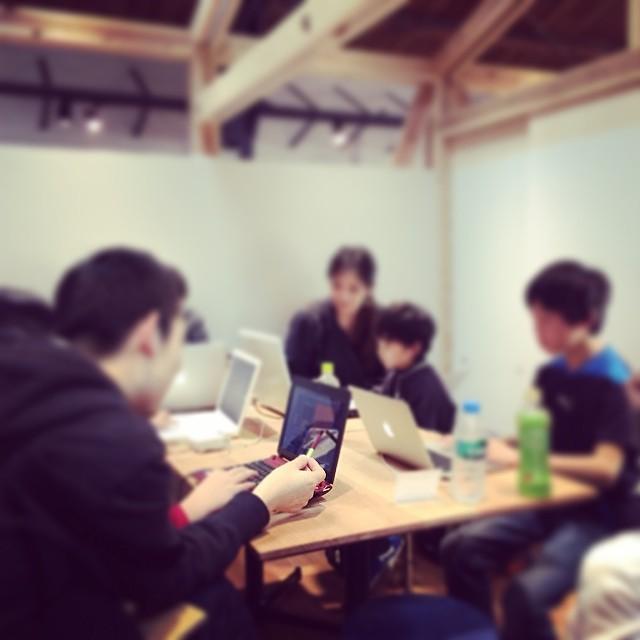 梅田で開催したCoderDojoの様子